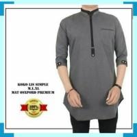 Kurta zipper lengan 3/4 four one baju koko pria jubbah india qurta