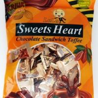 Permen Lunak COKLAT - LULU Sweets Heart Chocolate Toffee