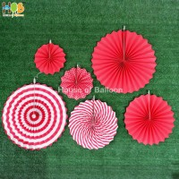 Paper fan Gold set / paperfan / paper flower set 6 in 1