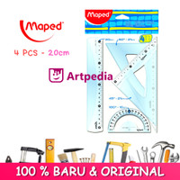 Maped Penggaris Essentials Medium Set - 4 pcs - Penggaris Maped