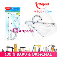 Maped Penggaris Essentials Large Set - 4 pcs - Penggaris Maped