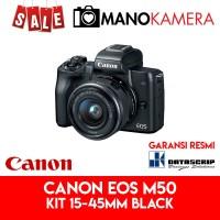 Canon EOS M50 Kit EF-M 15-45mm IS STM Black Garansi Resmi Datascrip