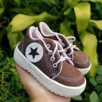 Sepatu Tali Anak Bintang Coklat