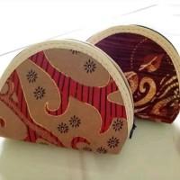 Souvenir Pernikahan Dompet batik oval Sovenir Pesta Murah