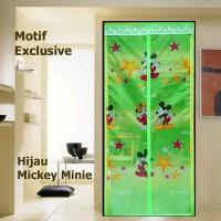 Tirai Kamar Tidur Magnet Mickey Mouse/ Tirai Magnet Anti Nyamuk Mini