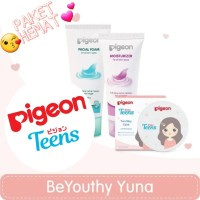 SALE Paket Make up Pouch Pigeon Teens Beauty Yuna Two Way Cake-Beige