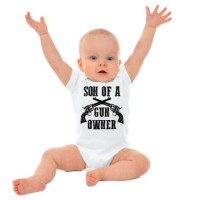 Son Of A Gun Owner Funny Gerber OnesieSecond Amendment Rifle Baby Romper