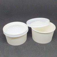 Paper Bowl 12 Oz ( 360 ml ) Body + Tutup isi 50 pcs - Putih
