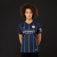 b78ac6aa853 Nike Manchester City 2018/19 Womens Away Stadium SS Shirt - Dark