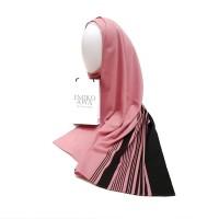 Pashmina Motif PinkGaris / Emikoawa / Murah Berkualitas