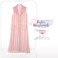 Outer Muslimah / Outer Gamis (PEACH SALUR) • by Hayuri