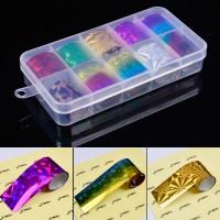 New 10 Colors Starry Nail Foils Set Shiny Nail Sticker Nail DIY
