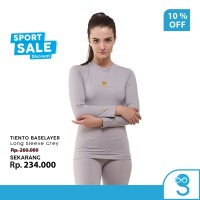 Tiento Baselayer Rashguard Manset Olahraga Wanita Long Sleeve Grey