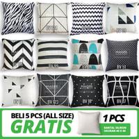 Sarung Bantal Sofa / Kursi - Custom Size 30, 40, 45, 50, 60, 65, 70