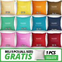 Sarung Bantal Polos - All Size 30, 40, 45, 50, 60, 65, 70