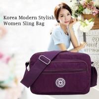 TS75 Korea Modern Stylish Women Nylon sling Bag / Tas Selempang - ms sepuluh