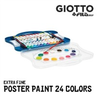 Cat poster 24 warna 25 ml bentuk tube / poster paint GIOTTO