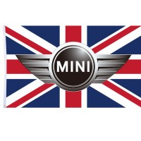 B101 Bendera Tiang Dinding Mr. Bean Mini Cooper UK Version 150x90cm