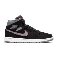 4a07b6bb19e5 NIKE AIR JORDAN 1 MID BLACK PARTICLE GREY