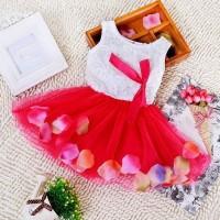 BOBORA Dress Anak Tutu Mini Tanpa Lengan Hem Kelopak FL-3045-NP