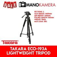 TAKARA ECO-193A Lightweight Tripod For Travel Free Bag ECO 193A