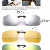 Clip Ons Night View and Day Polarized Anti UV (NEW CLIP INNOVATION)