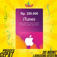 Itunes Gift Card Region Indonesia - Rp. 250.000