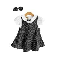 Mosfit Felize Black Dots Baju Dress Anak Perempuan