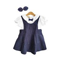 Mosfit Felize Navy Dots Baju Dress Anak Perempuan