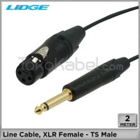 Kabel Line, XLR Female - TS Male [2m]