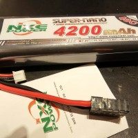 NXE POWER NXEC4200/40-2S2P 7.4V ROUND STRAIGHT BATTERY FOR TRAXXAS