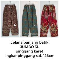 celana panjang batik pria JUMBO pinggang karet