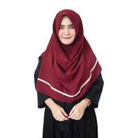 Hijab Maula Renda Pashmina Instan 1 Lubang Jilbab Khimar Kerudung