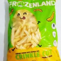 Kentang Frozen Land Crinkle Cut 1Kg
