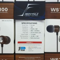 dbE WS100 / WS-100 / WS 100 Wood Earphone with Microphone