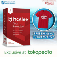 PROMO! McAfee® Total Protection™ 1Device 3Years FREE T-SHIRT!!