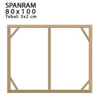 SPANRAM Frame Rangka Kayu 80x150 cm Tebal 3 Cm