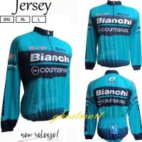 Baju Jersey Kaos Sepeda Santini Bianchi