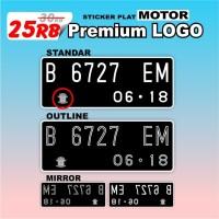 cutting sticker plat nomor MOTOR