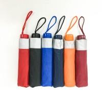Payung lipat 3 polos gagang warna / GRC / sablon / silver - 72007