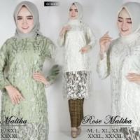 Setelan Kebaya Tunic Tille 3D /Kebaya Tille Rose Malika