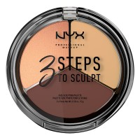 NYX Professional Makeup 3 Steps to Sculpt - Medium - Kontur &Highlight