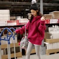 Sweater Kaos Model Longgar Gaya Harajuku Versi Korea untuk Wanita