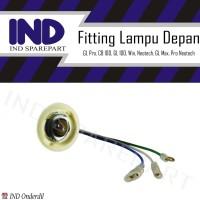 Fitting/Fiting/Cop/Socket/Soket Lampu Depan GL Pro/CB 100/GL