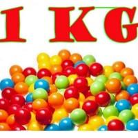 Mainan anak bola 50 pcs plastik warnawarni