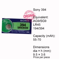 Button Cell - Sony - 394 (SR936SW)
