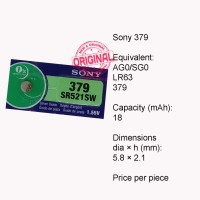 Button Cell - Sony - 379 (SR521SW)