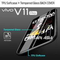 Softcase VIVO V11 PRO - LUFFY Softcase Tempered Glass BACK COVER