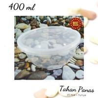 Mangkok plastik tahan panas untuk microwave 400ml