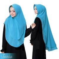 Jilbab Kerudung Hijab Khimar Syari Khimar Pet Ceruti Oval Tania Murah